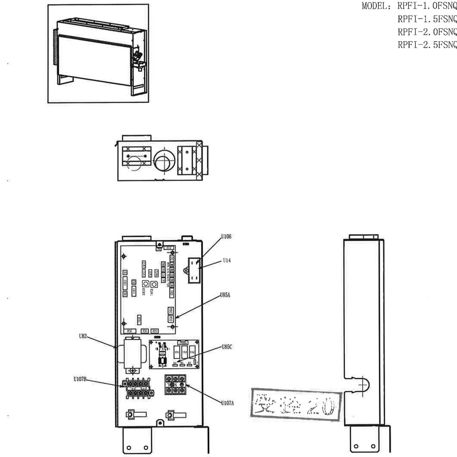 Hitachi PART NAME DRAW.NO 05-RPFI-FSNQ-220V50HZ