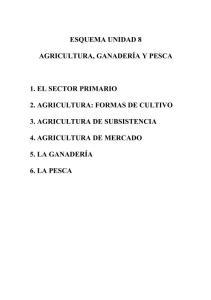 TEMA 8 AGRICULTURA GANADERIA Y PESCA