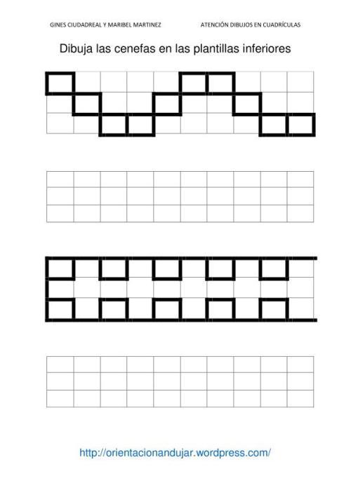 Fichas de atenci n dibujamos en cuadr culas cenefas orientacion andujar - Cenefas para dibujar ...
