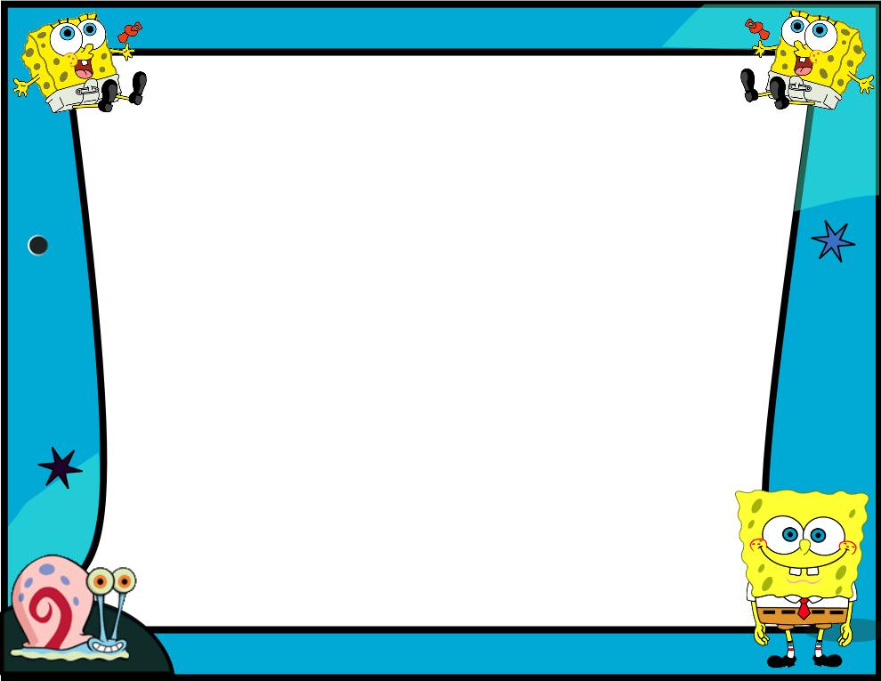 Marcos y bordes divertidos con los personajes de dibujos - Marcos para decorar ...