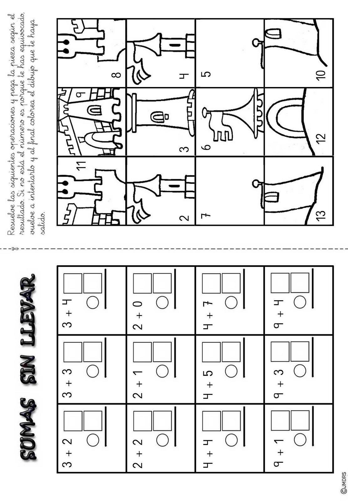 010103 Sumas sin llevar 1 dígito Puzzle V