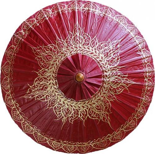 Fashion Umbrellas  Oxblood Traditional Thai Umbrella