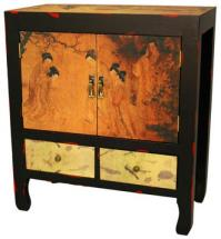 Asian Style Furniture :: Angels in the Garden End Table