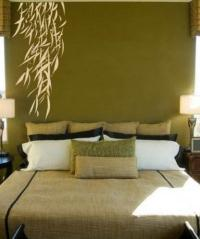 Asian Art Wall Stickers :: Hanging Bamboo Leaves Wall Decal