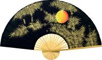 Chinese Wall Fans :: Bamboo Moon