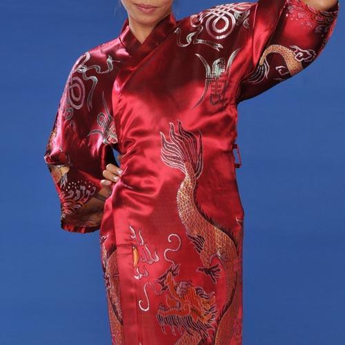Kimono Robes Red Flowing Dragon Kimono Robe