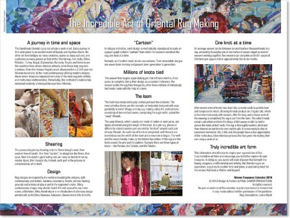 """Woven Treasures"" 2019 ~ Page 3 ~ ""The Incredible Art of Oriental Rug Making"""