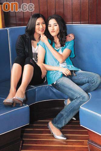 姚嘉妮(左)與蒙嘉慧因合作拍劇而成為好姊妹。