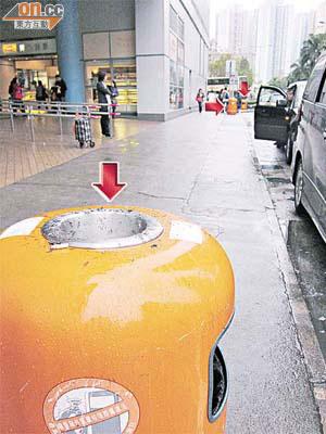 濫設垃圾桶百米三個 - 東方日報
