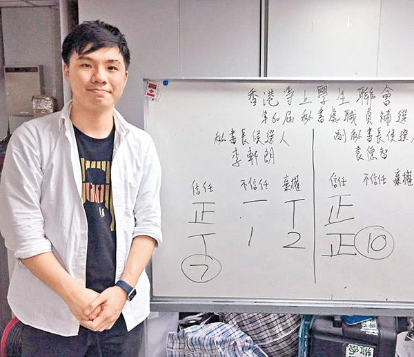 政情:李軒朗7票當選學聯秘書長 - 東方日報