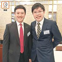 沈慧林(右)同楊悰傑(左)都話工業離唔開科技。