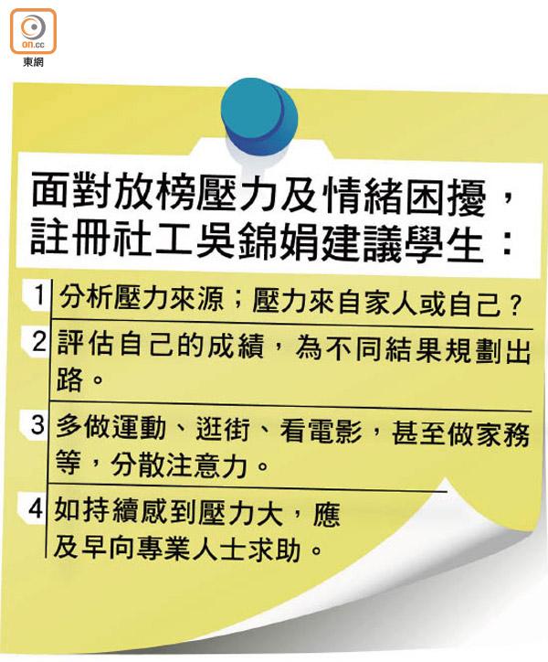 DSE明放榜近半考生壓力爆錶 - 東方日報