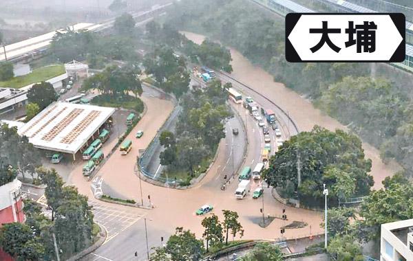 黃紅雨全港17宗水浸 新界北成澤國 - 東方日報