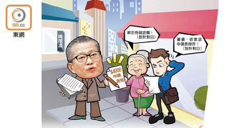 政情:公民講場:低效財爺派錢得把口 一年未到手 - 東方日報