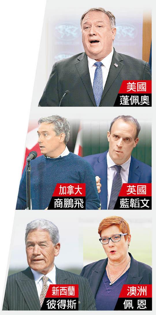五眼聯盟斥DQ打壓 北京:小心眼睛被戳盲 - 東方日報