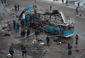 The trolleybus bombed on 30 December, 2013