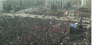 Pro-Russian 20000-strong rally in Donetsk, Eastern Ukraine, March 1, 2014