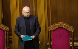 "Olexander Turchinov at a session of ""Supreme Rada""."