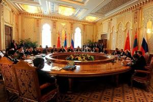 SCO summit meeting in Dushanbe, September 11, 2014