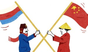 Russian and Chinese cultures are the one that do not accept global hegemony and are developing on its own.