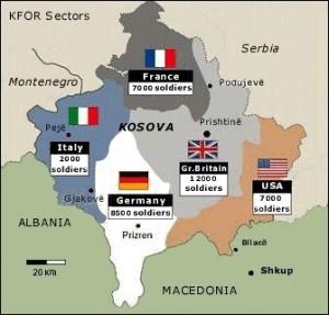 KFOR troops in Kosovo