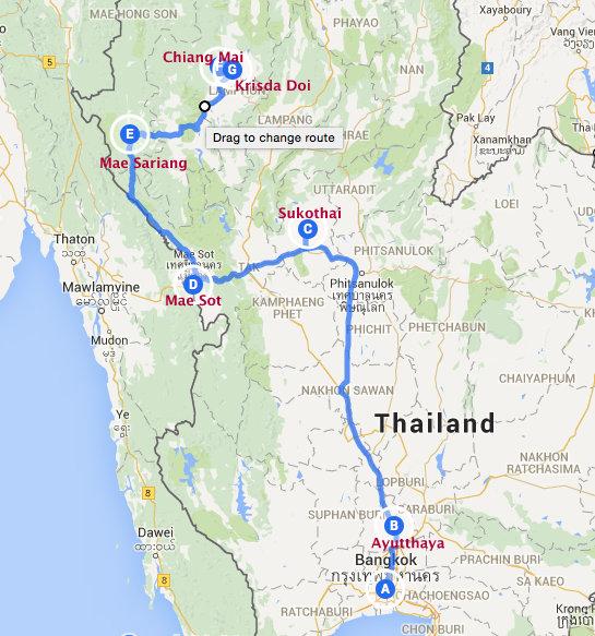 Free Wheeling  per Huurauto Onderweg naar Chiang Mai