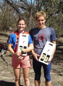 Mace & Julian collect  their prizes