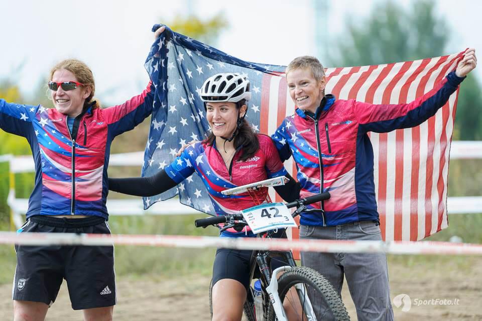 US MTBO Team members celebrate