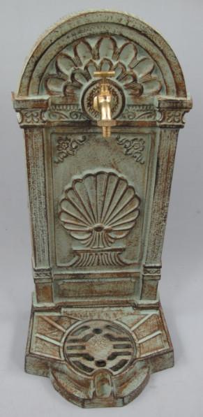 326.073GR 1 - Stehbrunnen Gußeisen farbig (Ornamente)