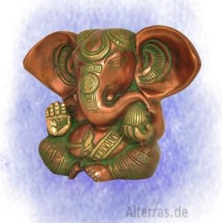 Baby Ganesha verkupfert grün