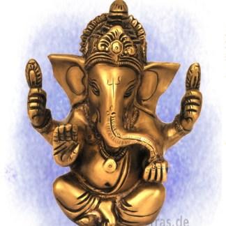 Ganesh sitzend Goldfaben