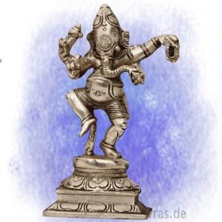 Ganesha tanzend versilbert