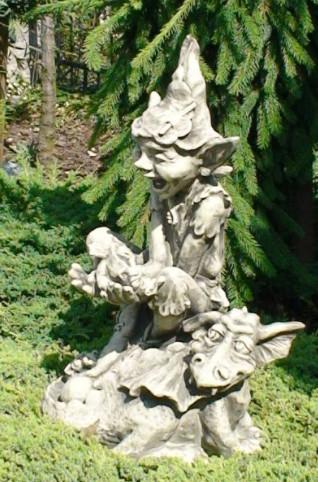 """Kobold its a boy3 - Elfe """"Lucky"""" auf Drache und Drachenbaby"""