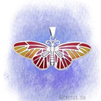 Anhänger Schmetterling bunt aus 925-Silber