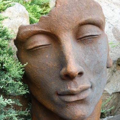 """Gesicht Mann Edition Oxid klein - Gesicht """"Mann"""", Steinguss, Edition Oxid, Klein"""