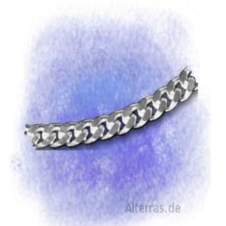 Kette Panzerkette - 2-fach diamantiert – 7mm aus 925-Silber
