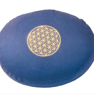 Meditationskissen mit Inlet BDL rund blau