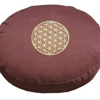 Meditationskissen mit Inlet BDL rund braun