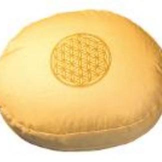 Meditationskissen mit Inlet BDL rund gelb