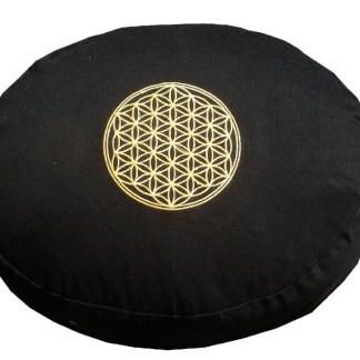 Meditationskissen mit Inlet BDL rund schwarz