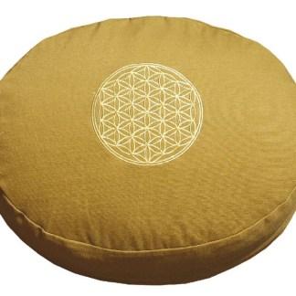 Meditationskissen mit Inlet BDL rund senfgelb