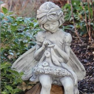 """Flower Fairy Rainfarn - Flower Fairy """"RAINFARN"""", Blumenfee aus Steinguss"""
