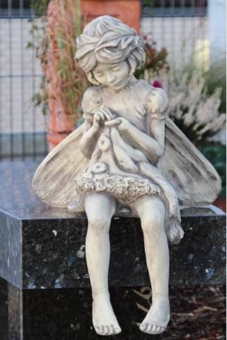 """Flower Fairy Rainfarn3 - Flower Fairy """"RAINFARN"""" Blumenfee aus Steinguss"""