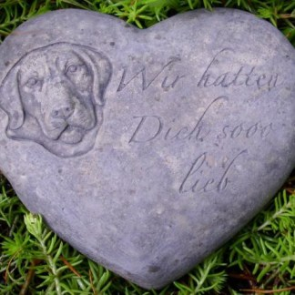 Grabherz Hund - Grabherz Hund, Herz mit Hundekopf
