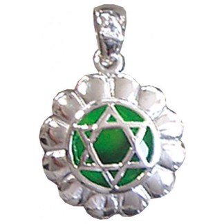 Anhänger Anahatam Chakra Zirkon Silber 925