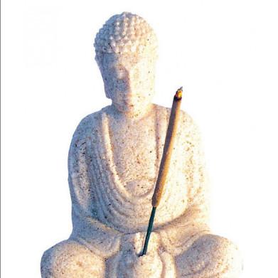 Buddha in Meditation Sandstein natur 10cm