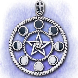 Anhänger Mondphasen aus 925-Silber
