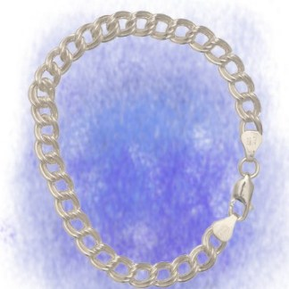 Armband Charms - Doppelring aus 925-Silber