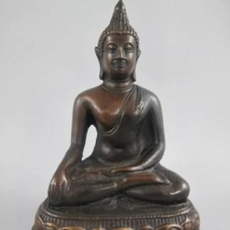 "Bronze Figur Buddha sitzend 18cm - Bronze Figur ""Buddha sitzend"" 18x11x7cm"