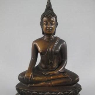 "Bronze Figur Buddha sitzend 22cm - Bronze Figur ""Buddha sitzend"" 22x15x8cm"